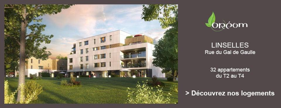 Programme Immobilier Neuf - 32 Appartements neufs du T2 au T4 - Oreom à Linselles