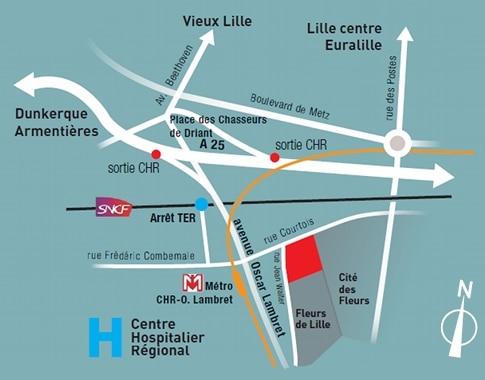 Reflets de Lille - Plan de situation