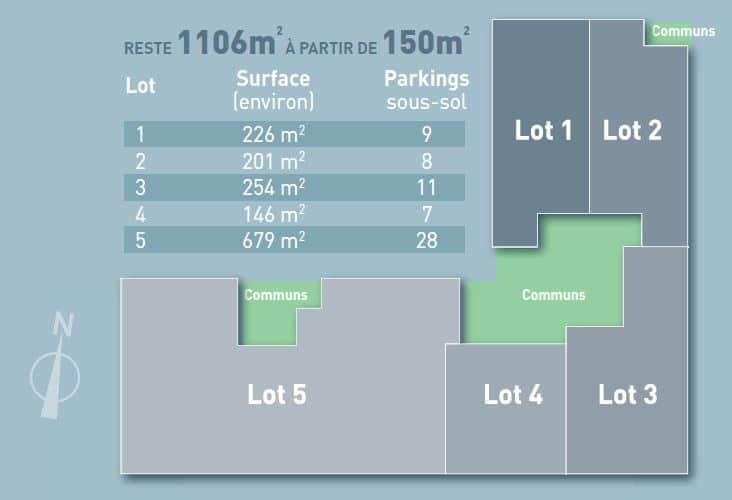 KIC - Reflets de Lille - Plan etage et surfaces