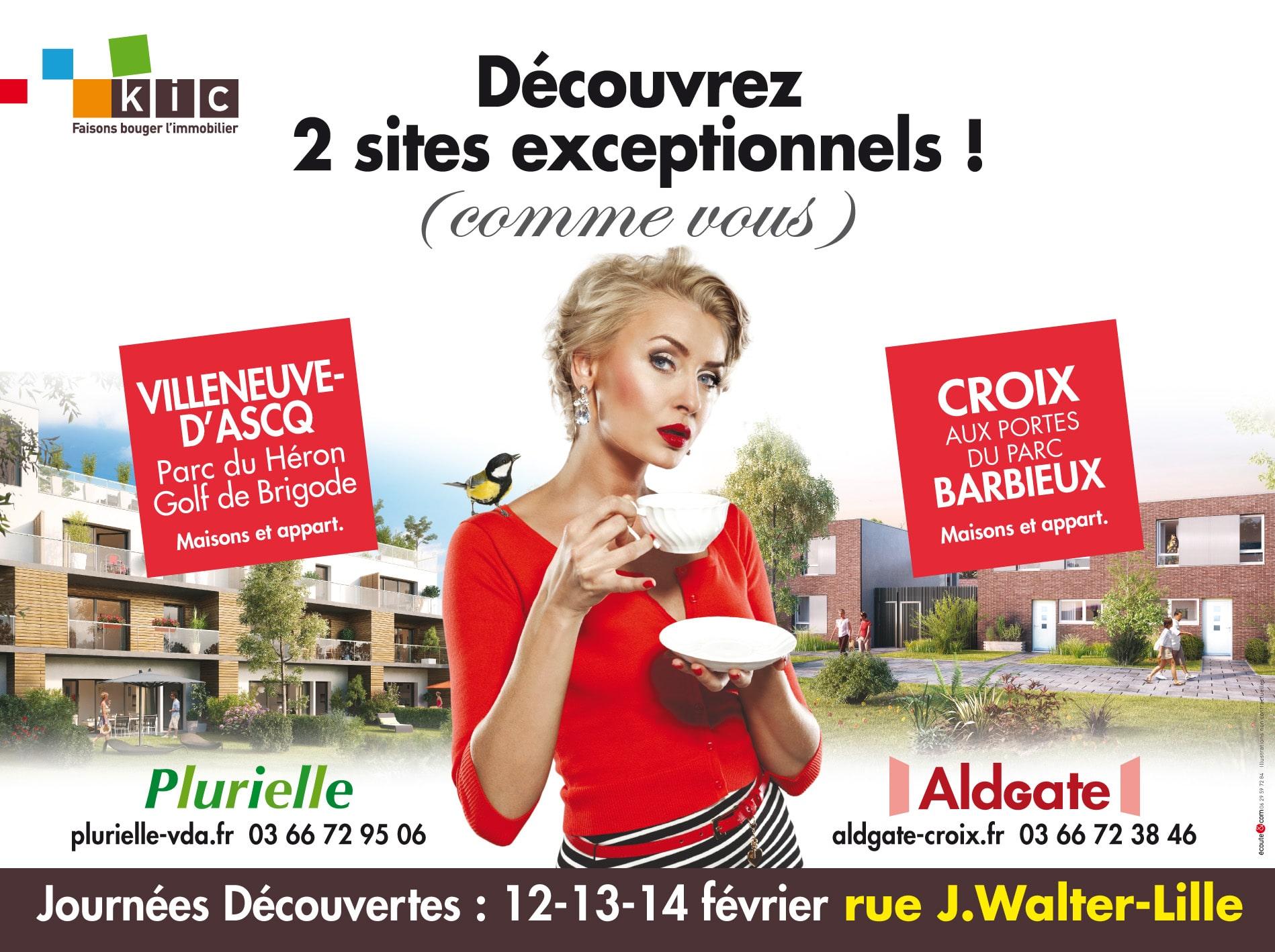 KIC - Journées découvertes Aldgate à Croix-Barbieux et journées découvertes Plurielle à Villeneuve d'Ascq