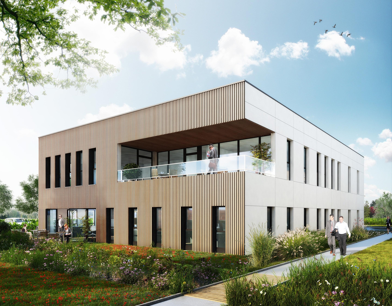KIC - EcoModulo 600 - Batiment de bureaux HQE de 600 m², sur le parc scientifique de la Haute Borne à Villeneuve d'Ascq