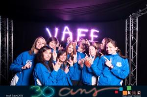 Les joueuses du VAFF fêtent les 30 ans de KIC le 2 avril 2015