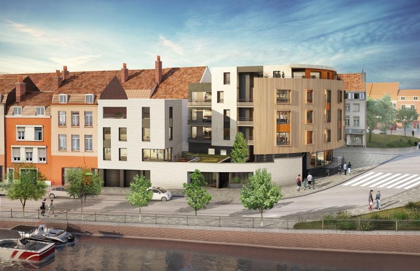 Appartement neuf à Dunkerque-Centre par KIC sur le programme immobilier neuf le Quai