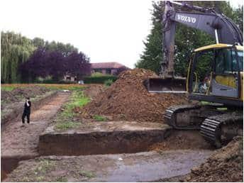 Campagne d'archéologie préventive par l'INRAP sur le programme de logements neufs Plurielle à Villeneuve d'Ascq