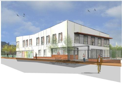 Maison départementale des solidarités - conception du projet par Otaké pour le promoteur KIC