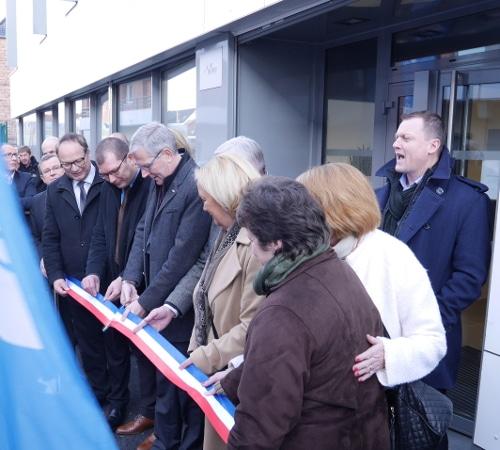 M. Dagbert, Président du Conseil Départemental du Pas-de-Calais et M. Musial, maire de Leforest inaugurent la Maison Départementale des Solidarités de Leforest