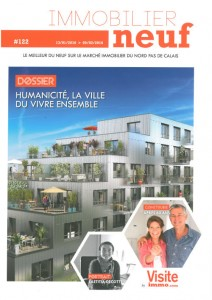 Laetitia Decotte, directrice Logement KIC en couverture du magasine Immobilier Neuf de Janvier 2016