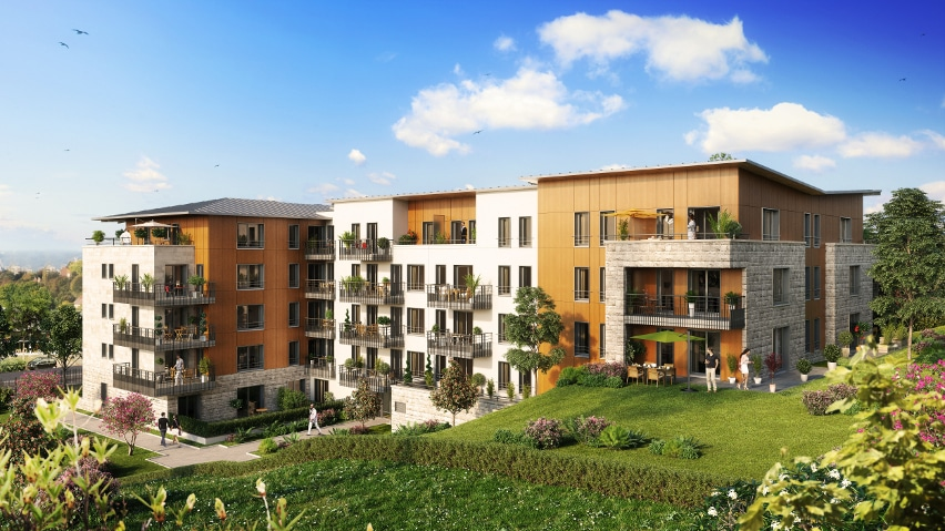 programme immobilier neuf de Rueil Malmaison - Perspective jardin