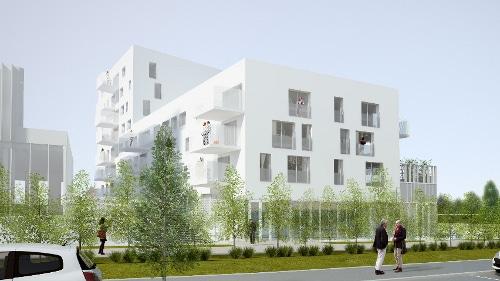 Prisme, des appartements neufs à Lens par KIC en type 2 (T2 - une chambre) et type 3 (T3 - Deux chambres) à Lens
