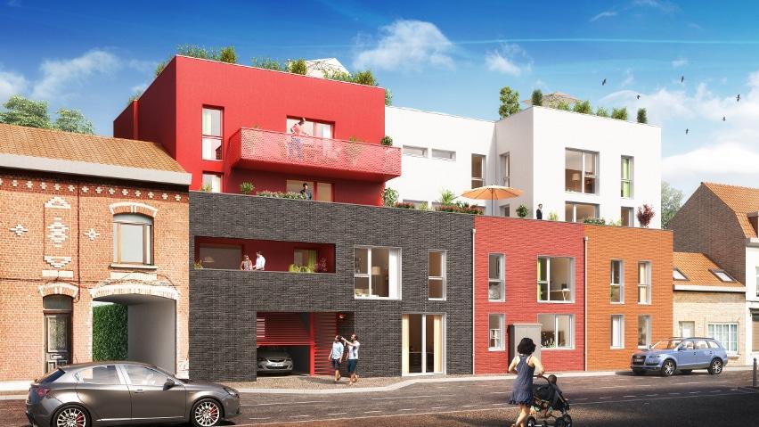 Le XII - Programme immobilier neuf a Roncq pour des appartements neufs a Roncq en centre-ville