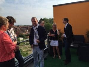 La terrasse de l'appartement décoré du programme de logements neufs à Annoeullin - Le Carré D