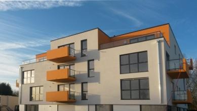Les balcons ocres du programme de logements neufs à Annoeullin
