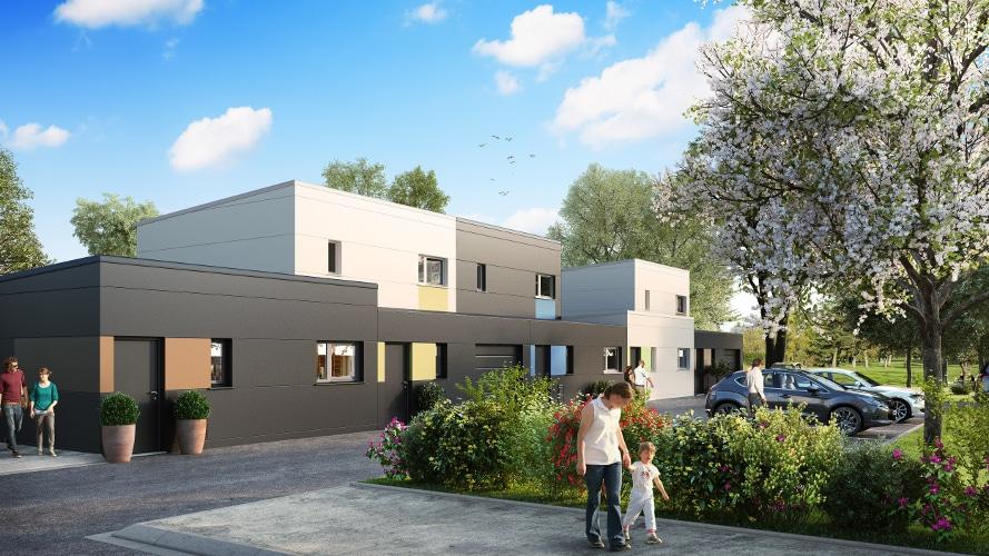 Programme de maisons neuves à Douai / Sin-le-noble sur l'écoquartier du Raquet
