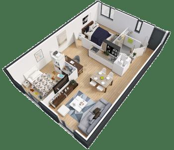 Exemple de maison T3 sur Evidence, programme immobilier neuf à Douai - Sin-le-Noble