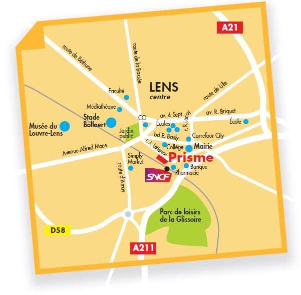 Prisme - Une situation idéale à Lens, sur le pôle des gares et à deux pas du stade Bollaert