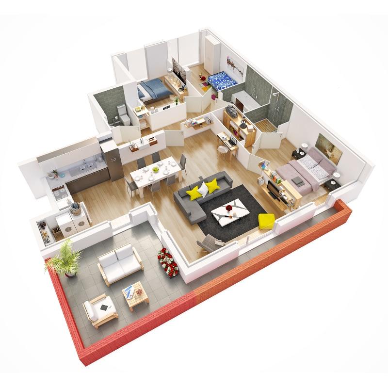 appartement neuf roncq avec Terasse 22m2 - Programme immobilier neuf Le XII a Roncq