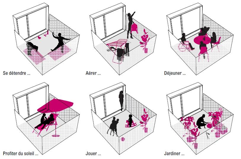Terrasse patio suspendu - Appartement neuf a Lens