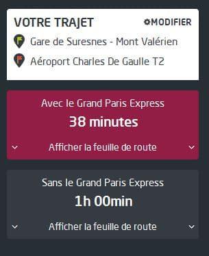 Odette - Rueil-Malmaison - Trajet Rueil-Mont Valerien a Aeroport Charles de Gaule