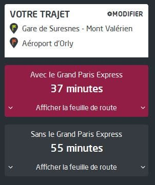 Odette - Rueil-Malmaison - Trajet Rueil-Mont Valerien a Aeroport Orly