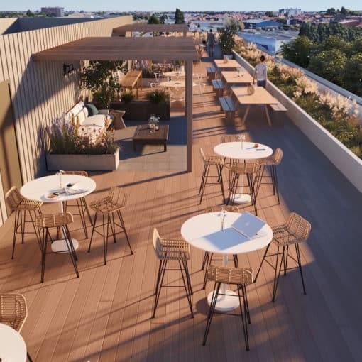 Bureaux neufs à Lille - Le Sloop - Rooftop