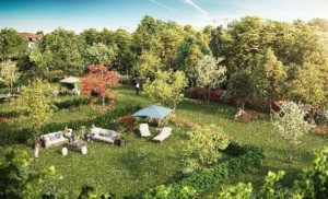 Programme immobilier neuf Linselles OREOM - Le parc paysager