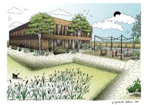 Programme immobilier d'entreprise Douai KALIS - Perspective extérieure