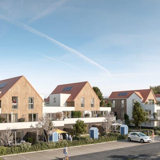 Programme immobilier neuf Wimille- Perspective extérieure